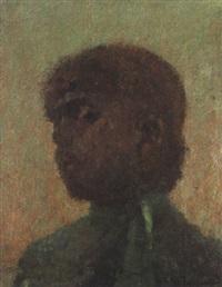 porträt einer frau mit roten haaren by serafino macchiati
