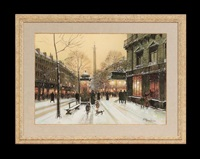 winter street scene by paul renard