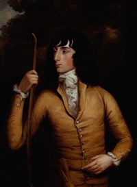 portrait of a young man holding a bow by robert fagan