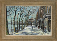 chelsea reach under snow by michael d' aguilar