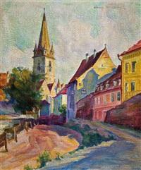 ansicht der evangelischen kirche in hermannstadt by anna (maria friederike) dörschlag