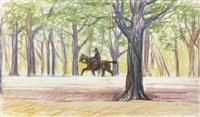 reiter in der praterallee by marie (mitzi) von uchatius