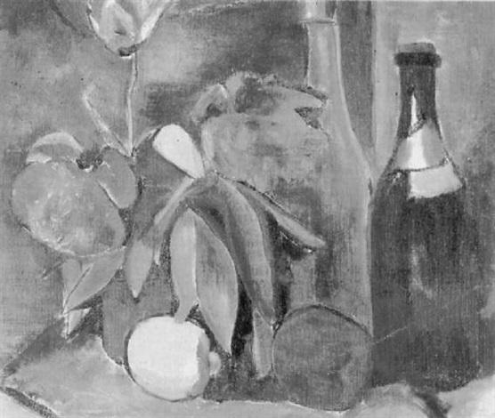 stilleben mit tulpen und zitrone by edith auerbach
