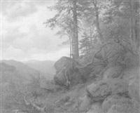 jäger im hochwald by carl von der hellen