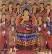 buddhist painting by anonymous-korean