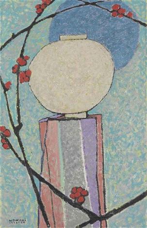 moon and plum blossom by kim whan-ki