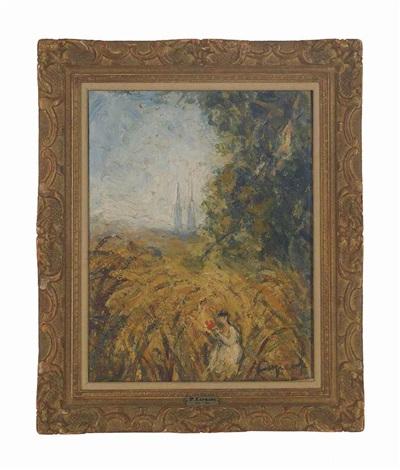 léglise dans les blés by pierre laprade