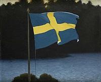 sveriges flagga by stan gustaf herman ankarcrona