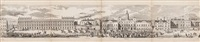grand architectural panorama of london, folding panorama (after r. sandeman) by george c. leighton