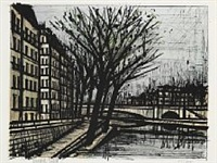 l'ile de saint-louis (from the paris suite) by bernard buffet
