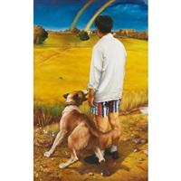 man and rainbow by liu rentao