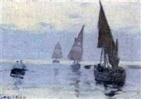fischerboote vor venedig by hans hoernigk