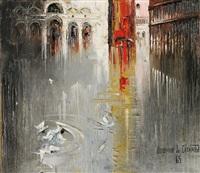 birds at piazza san marco, venice by regis (count) de bouvier de cachard