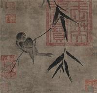 竹雀岚翠 by emperor xuande