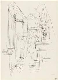 recto: bl. 59 - verso: bl. 60 aus: paris sans fin by alberto giacometti