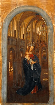madonna in der kirche (copy by d. beckers) by jan van eyck