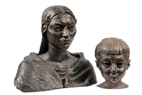 madonna and child in 2 parts by sir jacob epstein