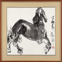 墨马 (ink horse) by liu boshu