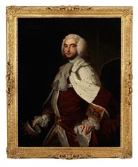 portrait of john percival, 2nd earl of egmont (1711-1770) by thomas hudson