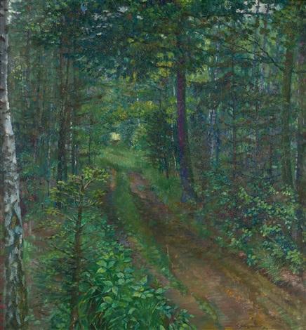 der waldweg kirchenholz tautenhain by conrad felixmüller
