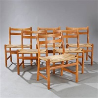 ch 47 oak chairs (set of 6) by hans j. wegner