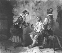 szene in einer weinschenke by charles-léon mery