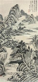 枫林泉竹 by qi zirui