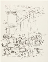 bl. 63 aus: paris sans fin by alberto giacometti