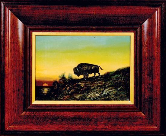 lone buffalo by astley david middleton cooper