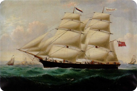 british ship queen of the fleet by william gay yorke