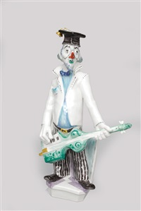 clown with guitar - persiflage (from musikalclowns) by peter strang