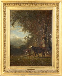cows in landscape by james mcdougal hart