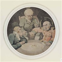 gamblers playing dice by thomas rowlandson