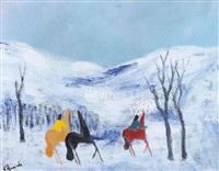 cavallini sulla neve by gianrodolfo d'accardi