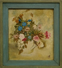 flowers in a jug by william brooker