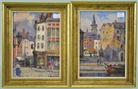 rue de l'ange (+ place maurice servais; 2 works) by albert dandoy