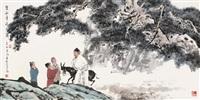 贺知章诗意图 by ji qingyuan