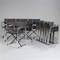 x75-2 foldable chairs (set of 12) by bo lindekrantz and börje lindau