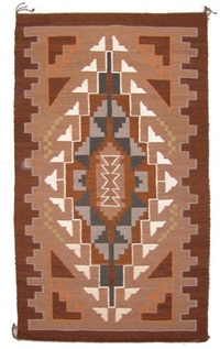 navajo burntwater rug by mary roanhorse