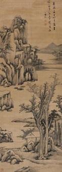 溪山幽居 (dwelling in mountain) by luo mu (lo mou)