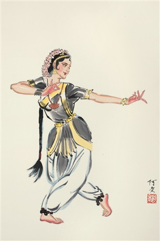 印度舞姿 dance people by a lao