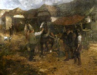 the threshing barn by frank mura