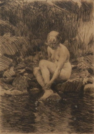 dagmar and mona 2 works by anders zorn