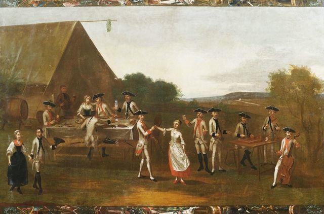 soldatentrupp amüsiert sich an einem marketenderzelt (+ soldatentrupp holt einen rekruten bei seinen eltern ab; pair) by anonymous-austrian (18)