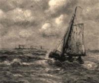 fischer im canal - calais by hans wacker