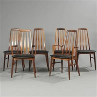 eva high-backed chairs and armchairs (set of 6) by niels koefoed