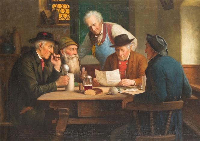 verlesung des briefes im wirtshaus by josef wagner hohenberg