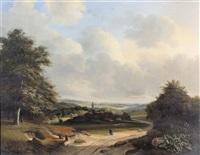 sommerliche landschaft by cornelis marinus willem mongers
