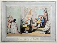 comforts of bath (set of 12) by thomas rowlandson