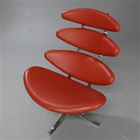 corona easy chair (model ej-5) by poul volther
